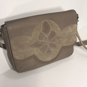 NWOT Lucky Brand suede and leather bag